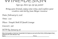 Sisterhood Wine Design 2018 flyer